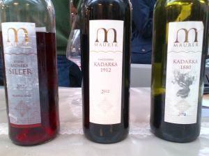 Hungarian Kadarka, organic, from very old vines; producer Oszkar Maurer