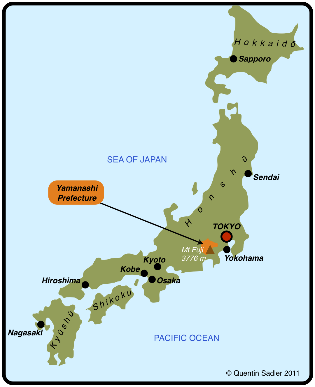 Koshu Made In Japan Misserdos - Japan map yamanashi