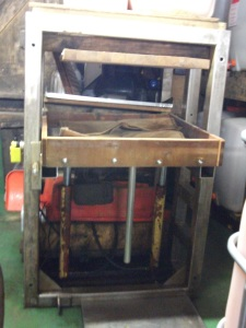 Charlie's hand-built cider press