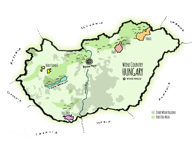 Hungary-Wine-Map